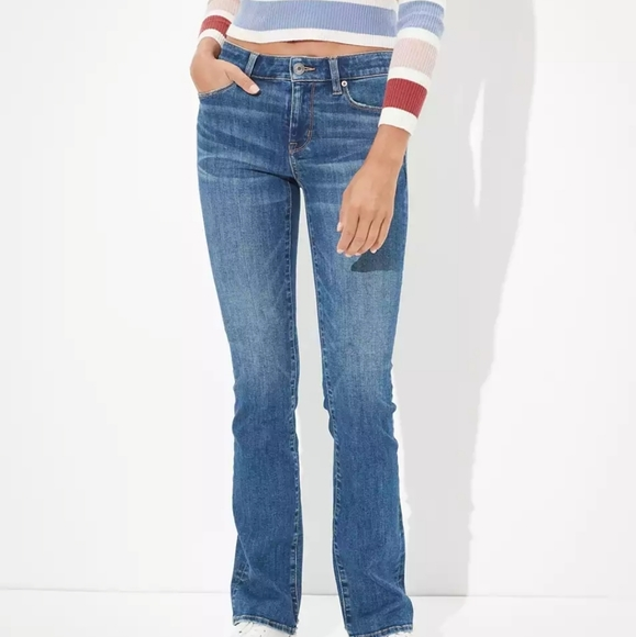 American eagle skinny kick jeans with rips